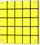 Grid In Black 05-p0171 Acrylic Print