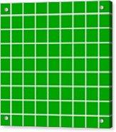 Grid In White 09-p0171 Acrylic Print