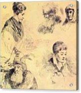 Griffonnage 1814 Acrylic Print