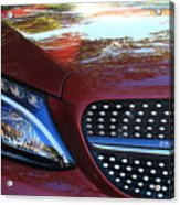 Grille  And Headlight  Acrylic Print
