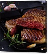 Grilled Beef Steak Acrylic Print