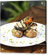 Grilled Fish With Roast Potato Herbs And Garlic Acrylic Print