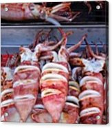 Grilled Squid For Sale Acrylic Print