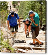 Grinding It Out On The Manitou Incline And Barr Trail Acrylic Print