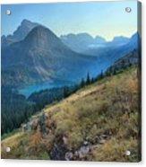 Grinnell Glacier Trail Hiker Acrylic Print