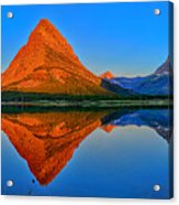 Grinnell Point Alpenglow Panorama Acrylic Print