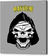 Grinning Mayhem Death Skull Acrylic Print
