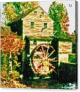Grist Mill Tranquility Acrylic Print