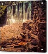 Grist Mill Water Fall Acrylic Print