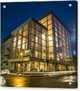 Groovy Modern Architecture One Wintry Night Acrylic Print