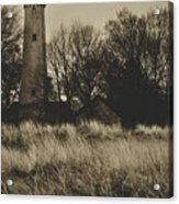 Grosse Point Lighthouse Sepia Acrylic Print