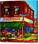 Grosterns Market Acrylic Print