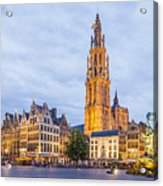 Grote Markt Square In Antwerp Acrylic Print