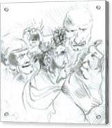 Grotesque Heads Acrylic Print