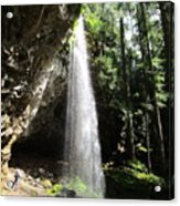 Grotto Falls Perspective Acrylic Print