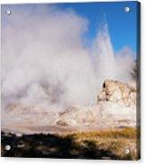 Grotto Geyser Eruption And Spray Acrylic Print