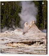 Grotto Geyser Eruption Two Acrylic Print