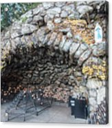 Grotto Of Our Lady Of Lourdes 2 Acrylic Print