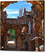 Grotto Of Redemption In Iowa Acrylic Print