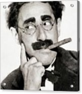 Groucho Marx, Vintage Comedy Actor Acrylic Print