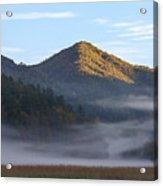 Ground Fog In Cataloochee Valley - October 12 2016 Acrylic Print