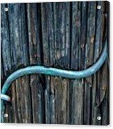 Copper Ground Wire On Utility Pole Acrylic Print