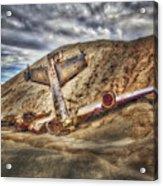 Grounded Plane Wreck Acrylic Print