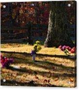 Groundhog Hill Cemetery Acrylic Print