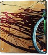 Group Hug - Bicycle Art Acrylic Print by Linda Apple