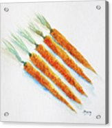 Group Of Carrots Acrylic Print