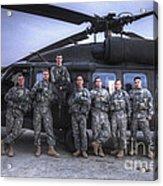Group Photo Of Uh-60 Black Hawk Pilots Acrylic Print