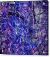 Growing Dimensional Blue Aliens Acrylic Print