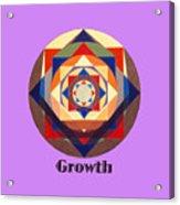 Growth text Acrylic Print