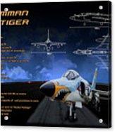 Grumman F-11 Tiger Acrylic Print