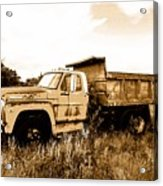 Grump The Ford Dump Truck Acrylic Print