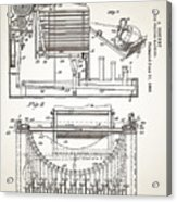 Grundy Typewriter Patent 1889 Acrylic Print