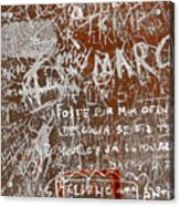 Grunge Background Acrylic Print by Carlos Caetano