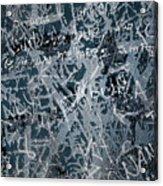 Grunge Background I Acrylic Print
