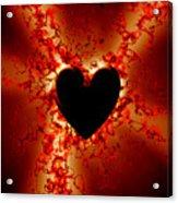 Grunge Heart Acrylic Print