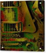 Grunge Metal Acrylic Print