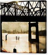Grunge River Acrylic Print