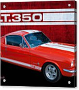 Red Gt 350 Mustang Acrylic Print