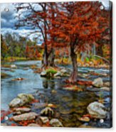 Guadalupe River In Autumn Acrylic Print