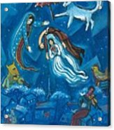 Guadalupe Visits Chagall Acrylic Print