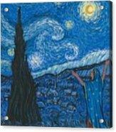 Guadalupe Visits Van Gogh Acrylic Print