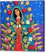 Guadalupe With Stars Acrylic Print