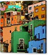 Guanajuato Hillside 2 Acrylic Print