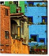 Guanajuato Hillside 3 Acrylic Print