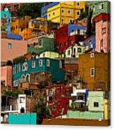 Guanajuato Hillside 4 Acrylic Print by Mexicolors Art Photography