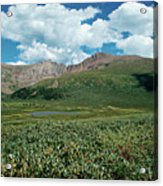 Guanella Pass Mt Bierstadt Acrylic Print by Michael Kirsh